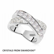 2019 charming cross ring With Crystals from SWAROVSKI in 6 charming colo... - $17.85