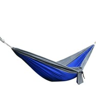 Blue Parachute Hammock Tree Safe Straps Camping Backpacking Carry Bag Tr... - $29.69