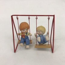 Enesco Country Cousins Katie & Scooter on Swing Set Figure - $34.64