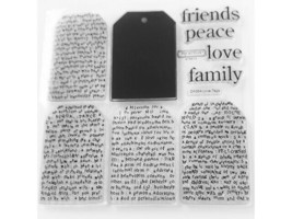 """Close to My Heart """"Love Tags"""" Clear Cling Acrylic Stamp Set #D1084"""