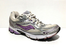 Women's 9.5 Saucony Grid Ignition 2 Running Shoes Silver/Purple 15047-6 (cg) - $13.29