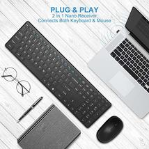 Wireless Keyboard and Mouse Combo, WisFox 2.4G Full-Size Slim Thin Wireless Keyb image 3