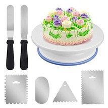 Rotating Cake Turntable-11 Inch Cake Decorating Stand with 2 Icing Spatu... - $17.26
