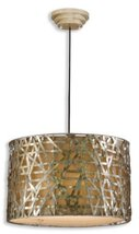 """Uttermost 21108 Alita Champagne Metal Hanging Shade, 14.3"""" L - $371.80"""