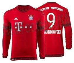 Adidas Robert Lewandowski Bayern Munich Long Sleeve Home Jersey 2015/16. - $135.23+