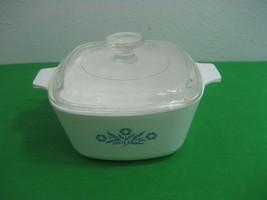 Corning Ware Blue Cornflower Casserole Dish with Glass lid P-1.75-B - $10.35