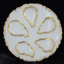 Antique Oyster Plate Haviland Limoges Gold Leaf CFH/GDM France CH Field - $269.99