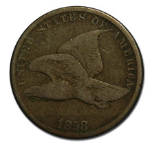 1858 Small Letters Flying Eagle Cent Coin Lot# A 1648