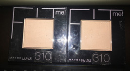 LOT of 2 Maybelline Fit Me! Pressed Powder, 310 Sun Beige - $10.23