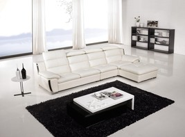 AE-L729L-IV 3Pcs Ivory Adjustable Headrest Sectional Sofa Set - $2,029.99