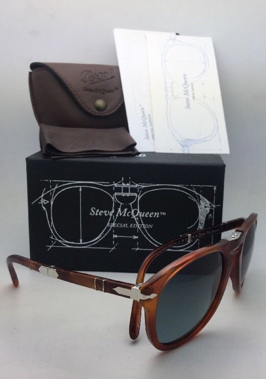 f65d3081f0f4e Steve McQueen PERSOL Folding Sunglasses 714-SM 96 S3 52-21 Havana+