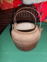 Great Collectible Antique Primitive Cast Iron DOUBLE SMELTING POTS......... - $32.26