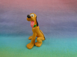 Disney Miniature Pluto Sitting PVC Figure / Cake Topper - $2.48