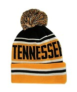 Tennessee Adult Size Striped Winter Knit Beanie Hats (Orange) - $11.95
