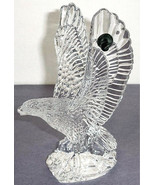 "Waterford Fred Curtis Eagle 8""H Crystal Sculpture Made Slovenia New In Box - $238.90"