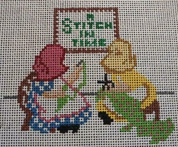 """HP """"A Stitch In Time"""" Designing Women Needlepoint Canvas Saying 7x7 - $12.19"""