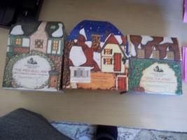 New Department 56 3 Ornaments Dedlock Arms Santa's Workshop The Pied Bull Inn - $5.93