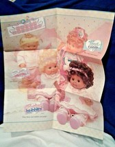 Ideal nursery BABY CRISSY doll Care Guide RARE full poster fold out INST... - $24.70