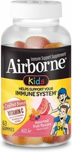 2 Pack Airborne Kids Assorted Fruit Flavored Gummies-Vitamin C 500mg- 63 count - $14.84+