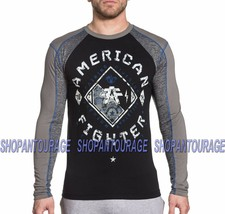 American Fighter Richmond FM5169 Men`s New Black L/S T-shirt By Affliction - $45.95