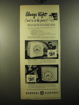 1950 General Electric Clocks Advertisement - Chipper, Pantry - Always right - $14.99