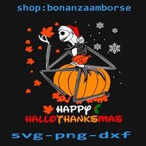 Jack Happy Hallothanksmas svg, Halloween svg, Png Dxf Digital files  - $1.99