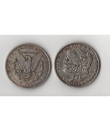 Two Face  Morgan Dollar skull zombie skeleton hand carved Copy Coins - $15.00