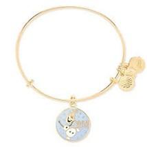 Disney Parks Alex and Ani Olaf Frozen Gold Charm Bracelet - $124.99