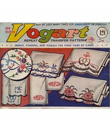 Lot of Vogart Repeat Transfers Vintage 1950's Embroidery Painting Linen ... - $36.99