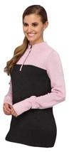 Nike Women's Heather Two Tone Sweater 542057 Wool Blend 1/2-Zip Mock Collar L LG - $56.06