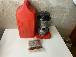Coleman Dual Fuel 2 Mantle Lantern Model 285-700 With Red Carry Case - $46.71