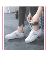 Hot Women Sneakers 2019 Fashion Breathable Vulcanized Shoes Pu Leather P... - $19.98