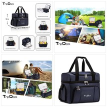 TripDock Large Capacity Insulated Cooler Bag Outdoor Picnic Lunch Box-Th... - $59.91