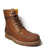 "TIMBERLAND Jacksons Landing Men's 6"" Brown Leather Moc Toe Boots #A2CAF - $108.89+"