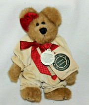 """Retired Boyds Bears 8in """"Ursula"""" Style #99334V Girl Cream Outfit Red Bow  - $17.41"""