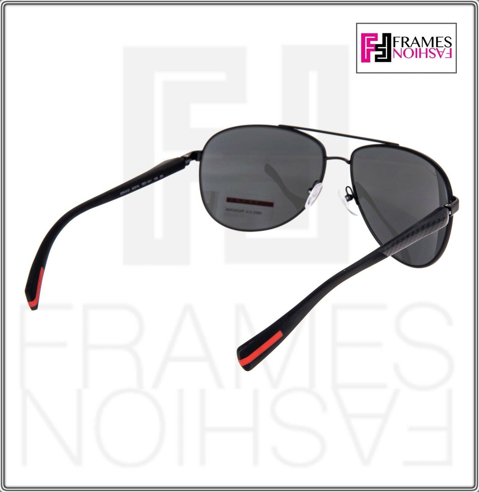 PRADA LINEA ROSSA NETEX PS51OS Black Aviator Sport Sunglasses SPS 51O Men