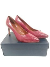 Cole Haan Idala Women's Red/Snake Skin  Leather Pointed Toe Pumps Size 9.5 - $38.44
