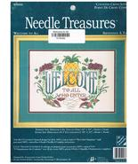 """Needle Treasures Cross Stitch Kit  """"Welcome To All Who Enter"""" - $17.00"""