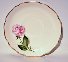Saucer Queen of Roses Pink 22 Carat Gold American Original - $6.93