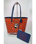 NWT Coach Reversible City Red Blue Tea Rose Floral Wolf Shoulder Bag Tot... - $175.00