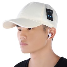 Rechargeable Bluetooth Music Hat Baseball(LIGHT YELLOW) - $27.63 CAD