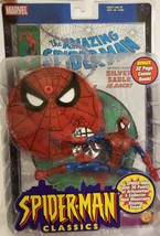 Spiderman Classics Amazing Spider-Man 2000 Action Figure & Comic Toy Biz... - $44.09
