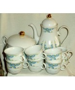 Schirnding Bavaria Set Forget Me Not Coffee Pot Creamer Soup Tureen 6 Cups - $85.49