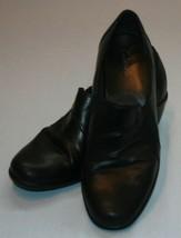 Clarks boot shoes Sz 8M 8 M womens Black Western Cowboy - $35.57