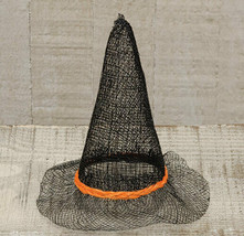 Country SINAMAY WITCH HAT Rustic Farmhouse Fall Autumn Primitive Hallowe... - $17.09