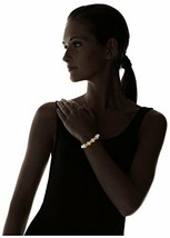 New nOir Gold Plated Sticks and Pearl Statement Bracelet NWT image 2