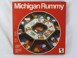 Michigan Rummy 1980 Card Game with Chips Playtoy 100% Complete Bilingual - $14.89