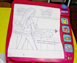 TALKING BARBIE Interactive CASH REGISTER Activity Roll Games Draw Color ... - $8.94