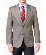 NEW MENS TOMMY HILFIGER TWO BUTTON GREY HERRINGBONE SPORT COAT BLAZER 40... - $119.38 CAD