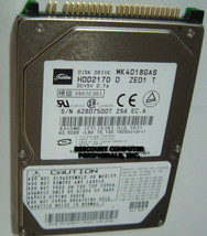 "Toshiba MK4018GAS HDD2170 40GB 2.5"" IDE Drive Free USA Ship Our Drives Work - $9.78"